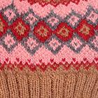 Camel.-Multicolor 4 Cabin Alpaca Kids Hat