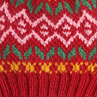 Dk.Red.-Multicolor1 Jasper Alpaca Kids-Hat