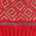 Bright Red.-Beige Abbie Alpaca Kids-Hat