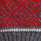Grey.-Red Abbie Alpaca Kids-Hat