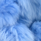 Baby Powder Blue BABY ALPACA Fur - Cotton Kandi Ornament 15 inches