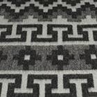 Grey-Black Alpaca Ethnic Inka Blanket