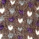 Brown Mlge.-Multicolor-2 Alpaca Thrummed Mittens