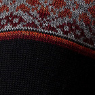 Multicolor Alpaca Women's Sweater with Black Trim from Peru