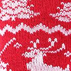 Alpaca Reindeer Unisex Socks in Red-White   Classic Alpaca Peru