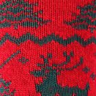 Alpaca Reindeer Unisex Socks in Red-Green   Classic Alpaca Peru