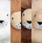 "Alpaca Fur - Cushing Lion Ornament 13"" / Various"