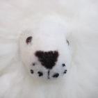 "BABY Alpaca Fur - Cushing Lion Ornament 8"" / Various"