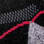 Unisex Shorty Athletic Alpaca Socks in Black-Grey Heather   Classic Alpaca Peru