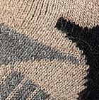 Alpaca Ski & Snowboard Socks in Beige-Black-Grey Heather | Classic Alpaca Peru