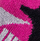 Alpaca Ski & Snowboard Socks in Black-Fuchsia-Grey Heather | Classic Alpaca Peru