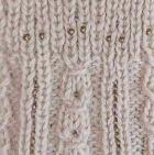 Alpaca Cable Fantasy Fingerless Gloves in Natural   Classic Alpaca Peru