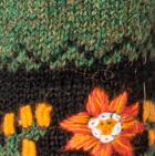 Alpaca Embroidered Leaf Gloves in Green Mlge. | Classic Alpaca Peru