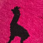 Alpaquita Unisex Socks in  Fuchsia-Black   Classic Alpaca Peru