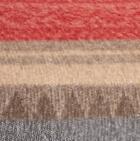 Alpaca Cherokee Blanket in C0307-Red/Grey/Brown   Classic Alpaca Peru