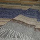 Alpaca Cherokee Blanket in C0301-Blue/Grey/Sand | Classic Alpaca Peru