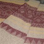 C0314-Grape/Sand/Navy Alpaca Cherokee Blanket