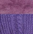 Purple-FurGrape Alpaca Cable Fingerless Gloves with Fur