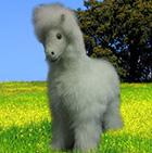 Various BABY Alpaca Fur - Horse Ornament