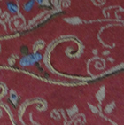 Burgundy-Henna Mlge. Full Embroidered Ladies Alpaca Cardigan