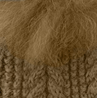 Camel-FurVicuna Alpaca Cable Fingerless Gloves with Fur