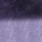 Lilac Mlge.-FurPurple Alpaca Cable Fingerless Gloves with Fur