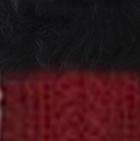Red-FurBlack Diamond Cable Alpaca Gloves With Suri Fur