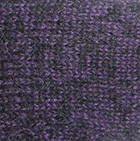 Alpaca Cable Fingerless Gloves in Mixt. Purple-Black | Classic Alpaca Peru