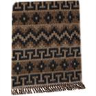 Alpaca Ethnic Inka Blanket in Camel-Black | Classic Alpaca Peru