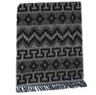 Alpaca Ethnic Inka Blanket in Grey-Black   Classic Alpaca Peru