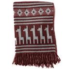 Alpaca Ethnic Llama Blanket in Grey-Lt.Red | Classic Alpaca Peru