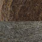 Cinnamon Mlge.-Sand Mlge. Reversible Alpaca Gloves Heavy Weight