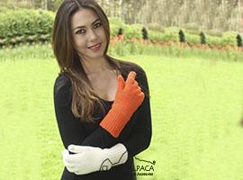 Double Knit Alpaca Hunter Gloves   Classic Alpaca Peru