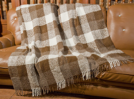 Plaid Boucle Alpaca Throw