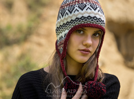 Alpaca Hat With Ear Flaps