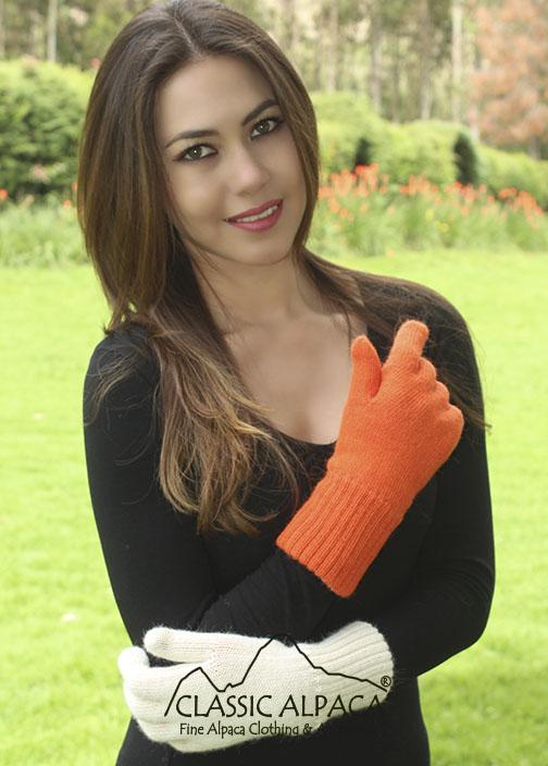 Double Knit Alpaca Hunter Gloves | Classic Alpaca Peru