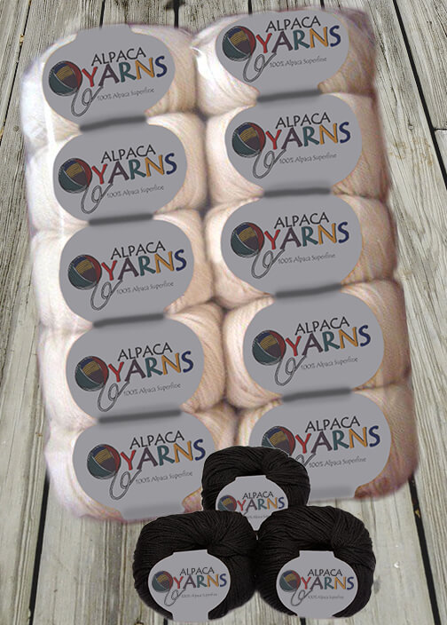 Superfine Alpaca Yarn Skeins - Pack (10 Skeins)